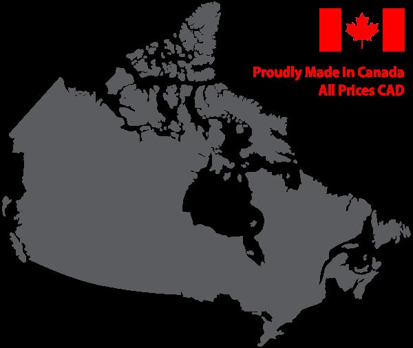 Canada Map Black Silhouette Skiezy Performance Strap Inc