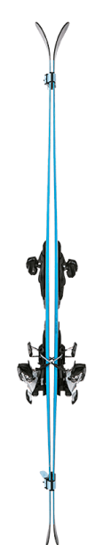 ski straps separating skis