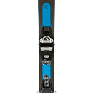 Two Skiezy Performance Ski Straps on Volkls top and bottom