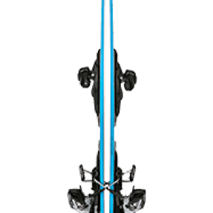 Two Skiezy Performance Straps on Volkl Skis From The Side